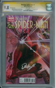Amazing Spider-man #1 Alex Ross Variant 1:75 (2014) CGC 9.8 Signature Series Signed Stan Lee Dan Slott Marvel comic